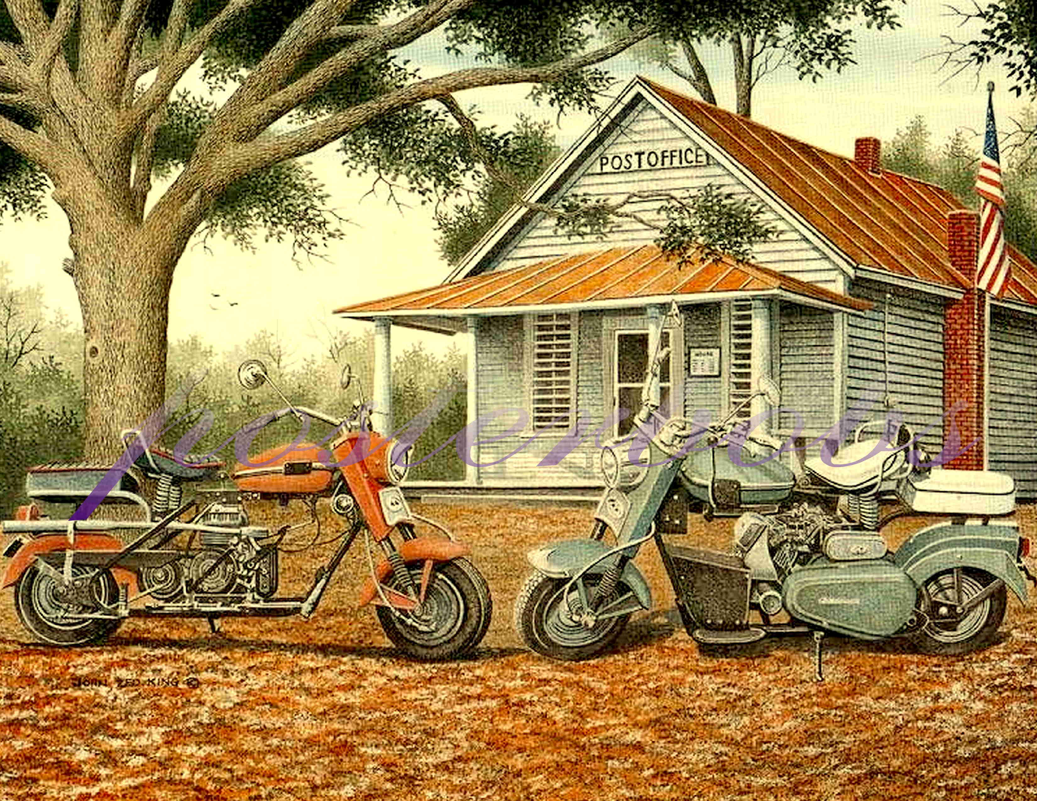 motorcycle prints print giclee posterbobs