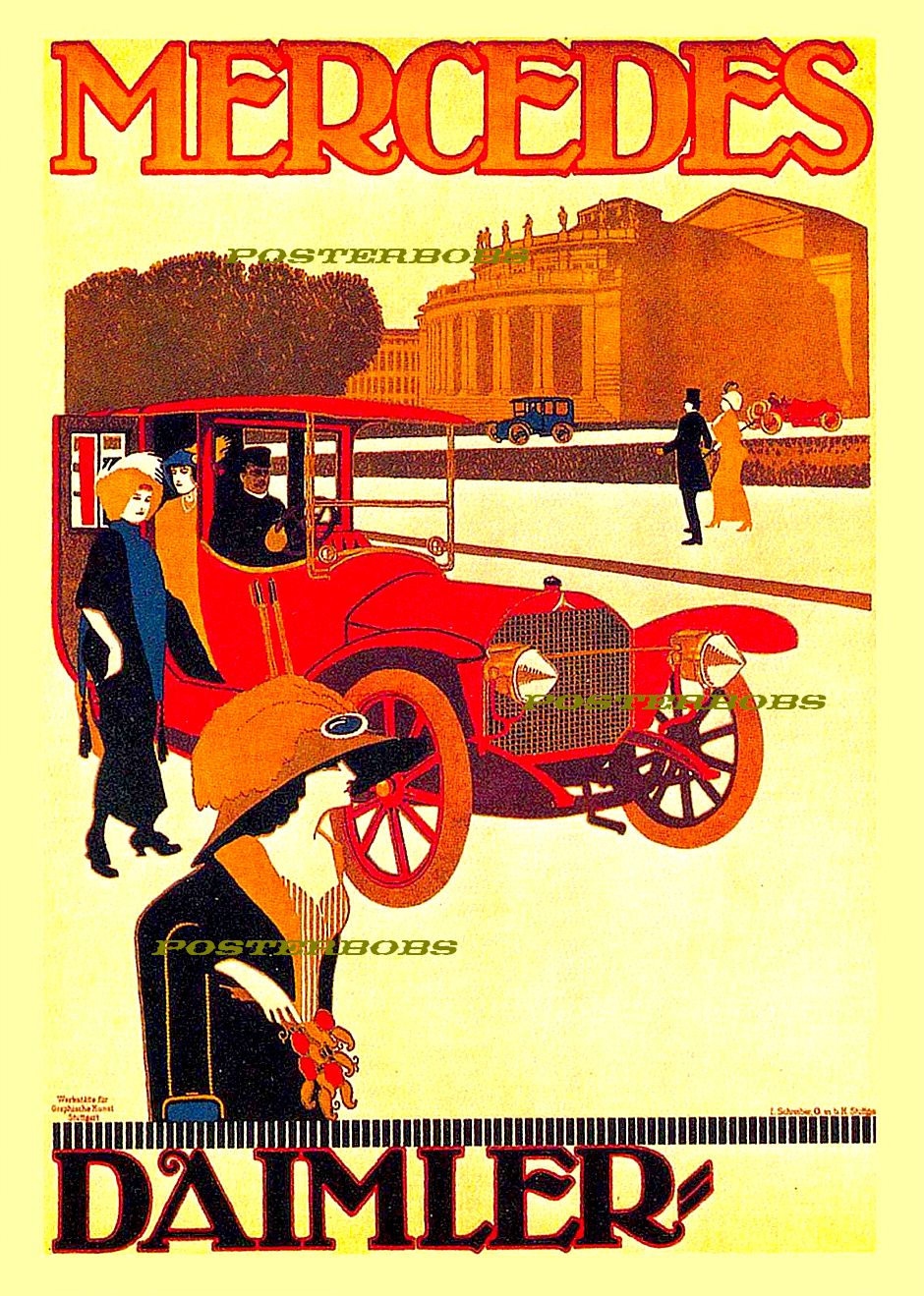 Vintage art posters and prints at posterbobs for Vintage mercedes benz posters
