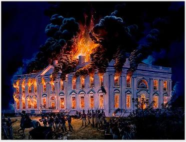 burning down the white house Does anyone know what british regiments took part, or even which regiment actually did the actual torching and is this event the reason it was painted white afterwards when rebuilt, if so what colour was it before and what was it called before or has it always been known as the white house (in which case the painting it white because of.